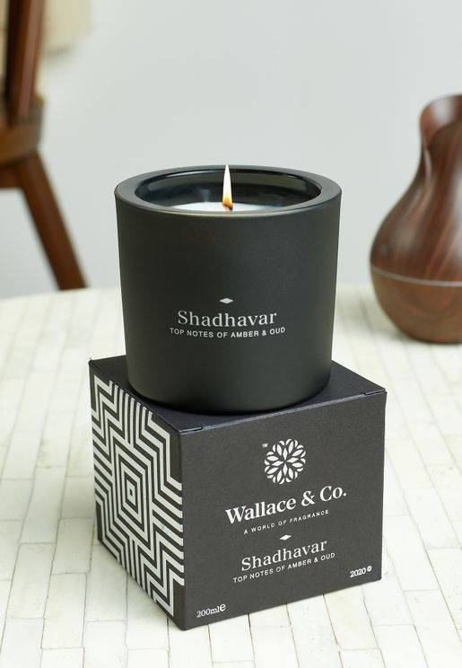Amber & Oud Shadhavar Scented Candle 200ml