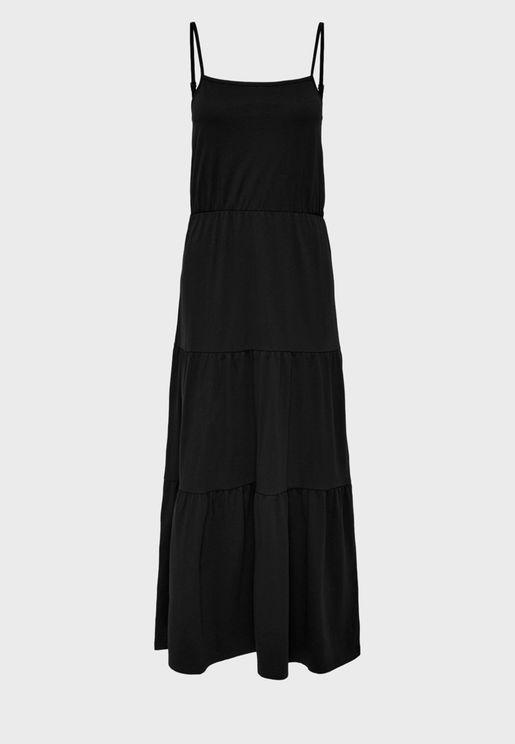 Cami Strap Ruched Waist Dress