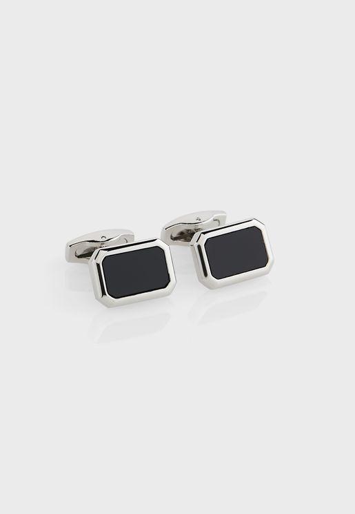 Octagon Inlay Cufflinks In Giftbox