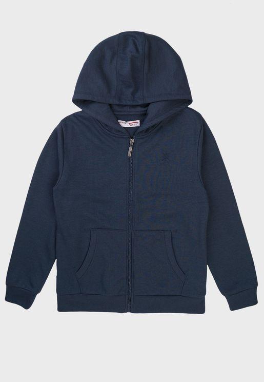 Teen Basic Zip Thru Hoodie