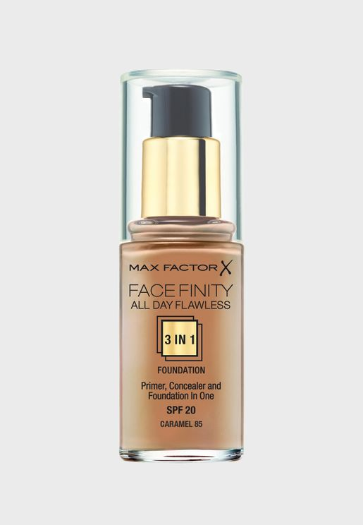 3-in-1 Flawless Liquid Foundation- 85 Caramel