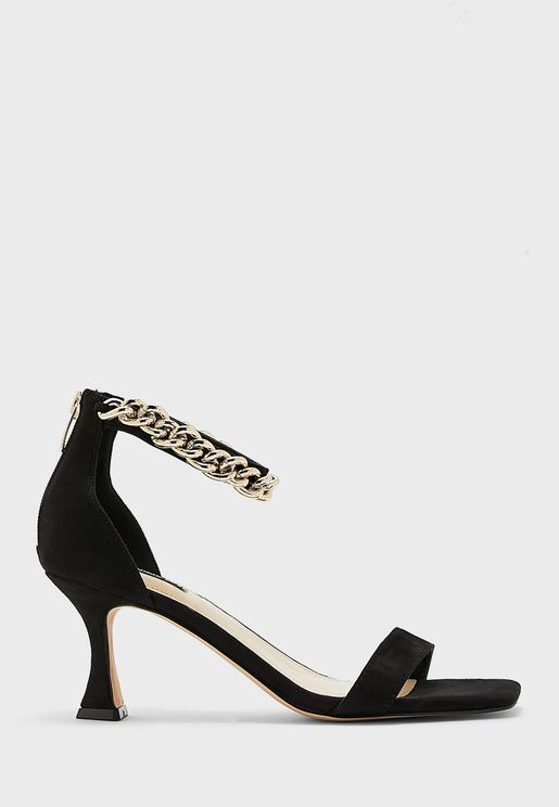 Wnpalace2 Zipped Ankle Strap Mid-Heel Sandals