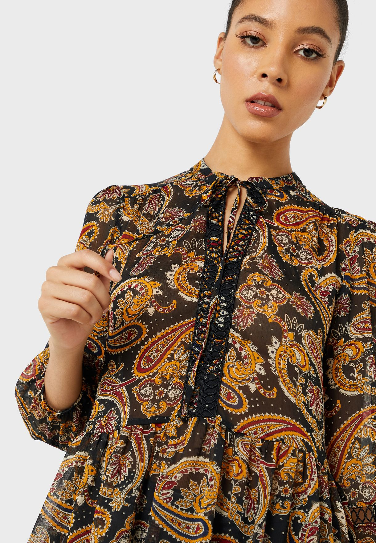Paisely Printed Top