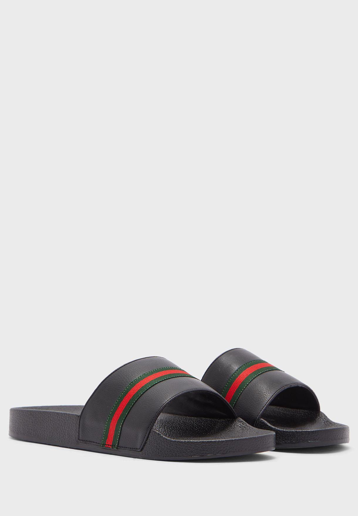 Webbing Details Sandals