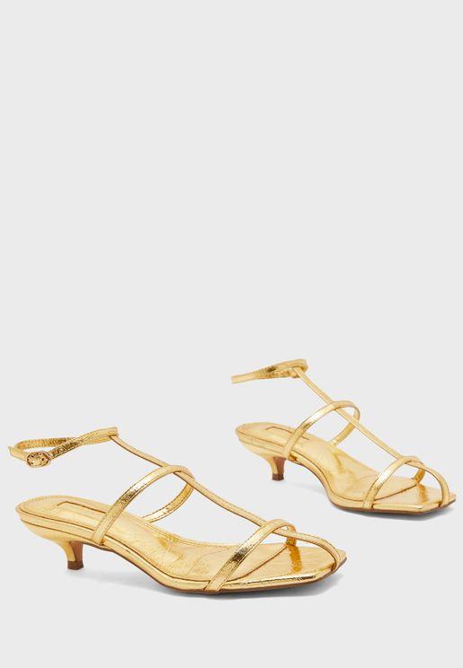 Nika Cage Mini Low Heel Sandal