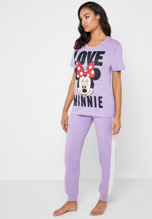 Slogan Graphic T-Shirt & Pyjama Set