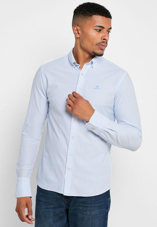 Striped Button Down Regular Fit Shirt