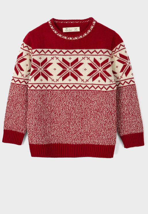 Kids Jacquard Sweater