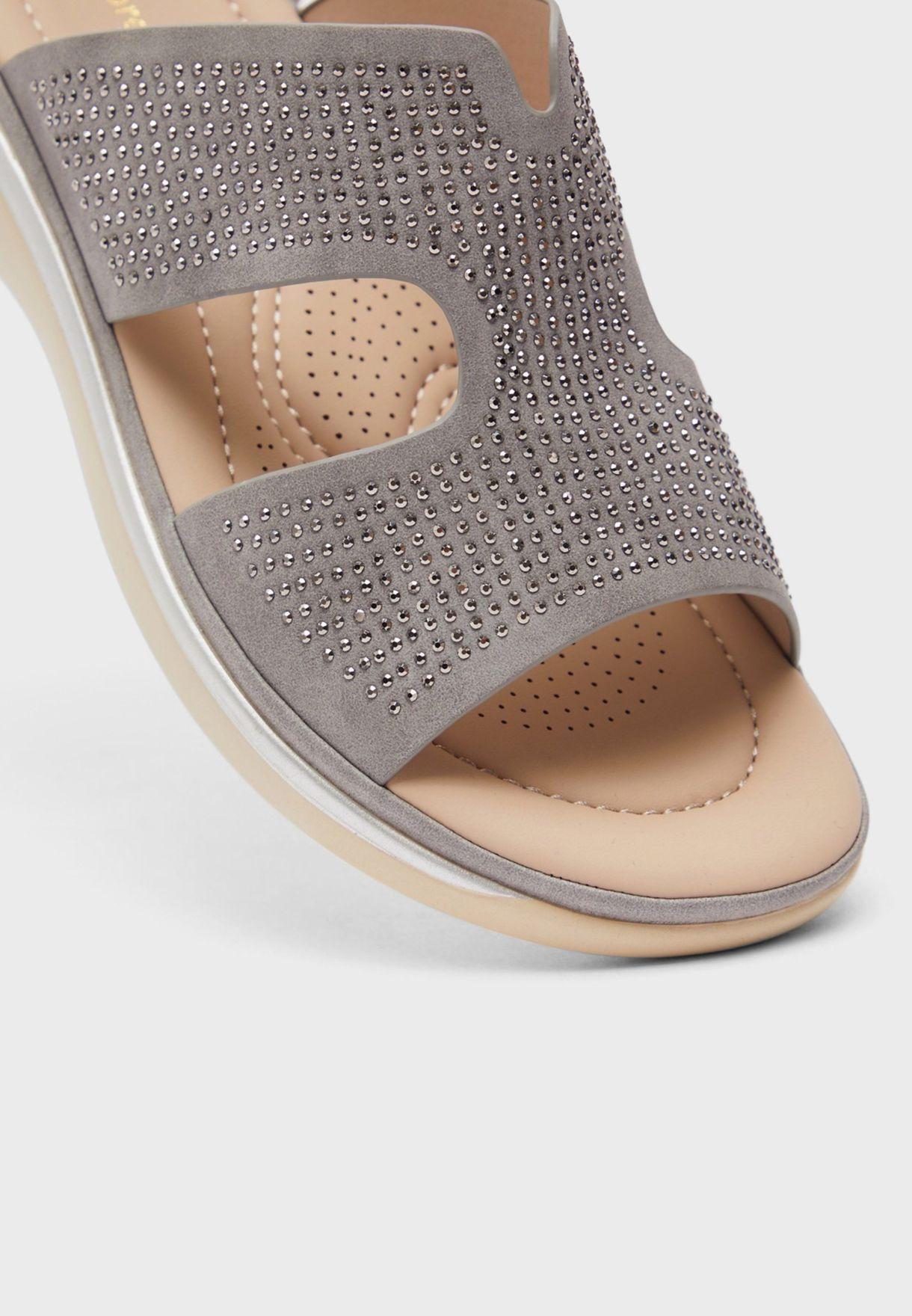 Casual Low Heel Wedge Sandals
