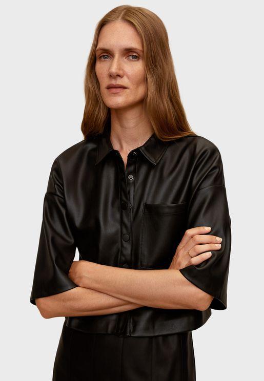Wide Sleeve Satin Shirt