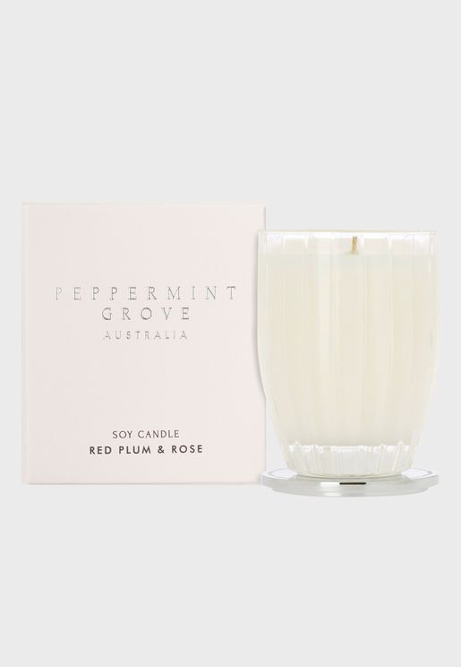 Red Plum & Rose Candle