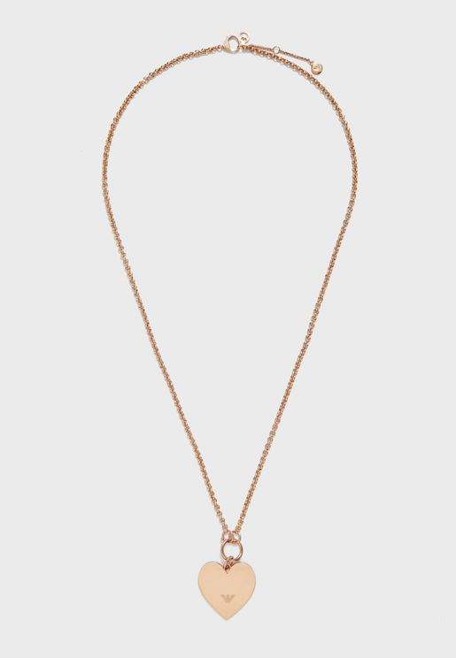 EGS2669221 Hearts Steel Necklace