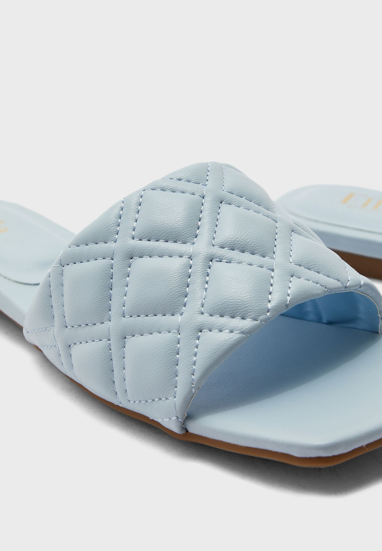 Diamond Quilted Flat Sandal