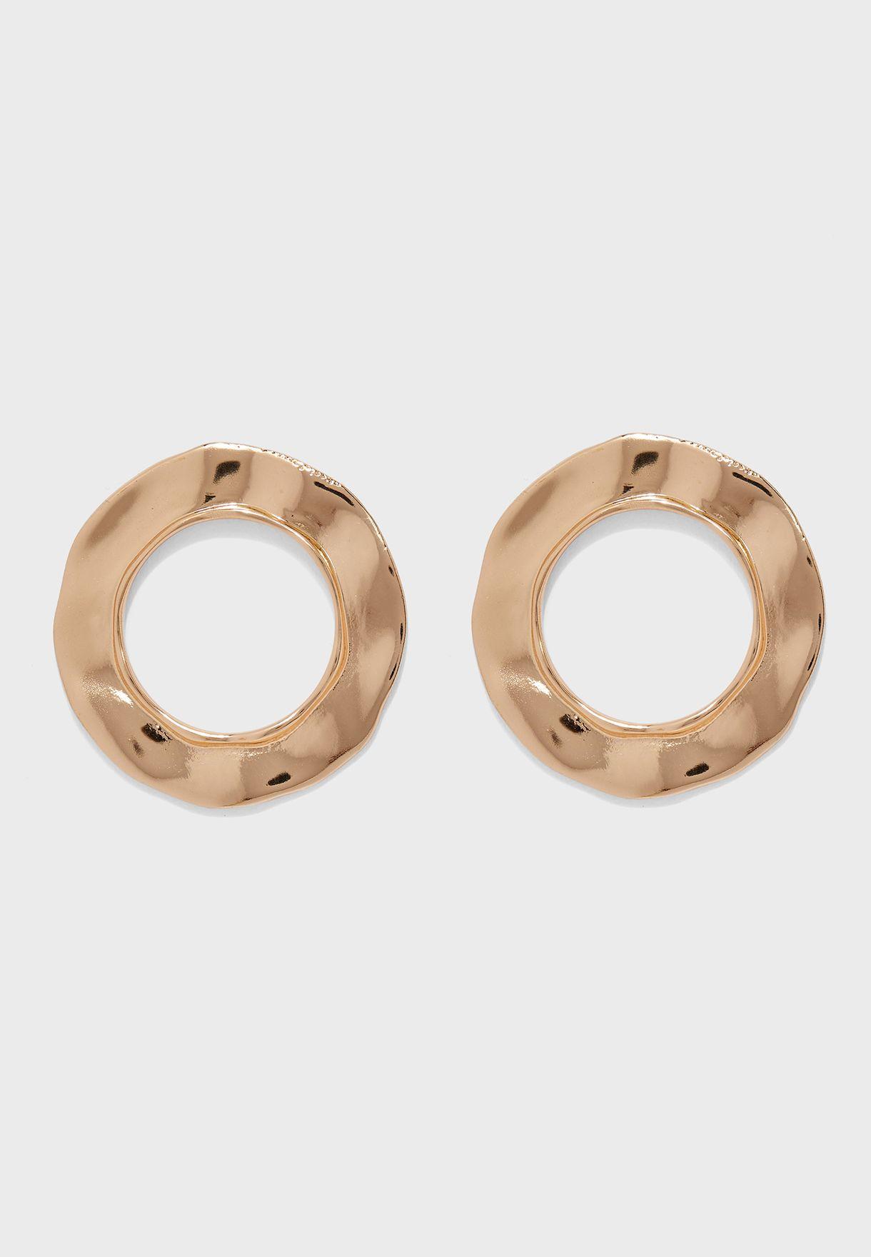 Joplin Metallic Hoop Earrings