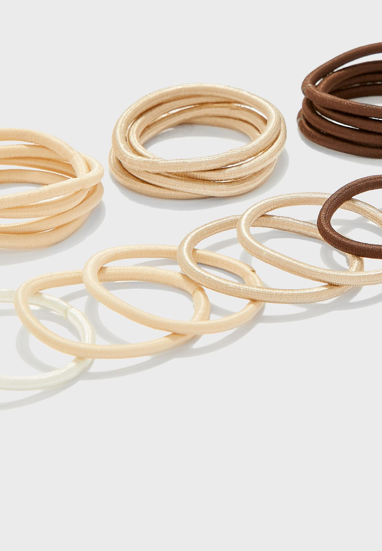 Elastic hair ties for ponytails