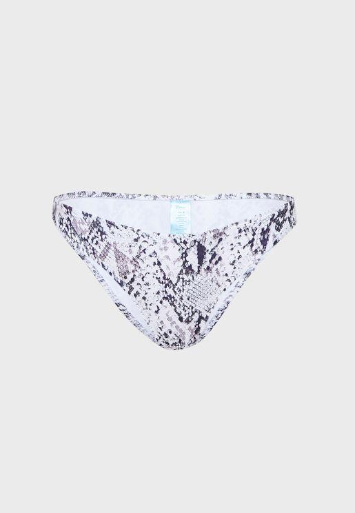 Ibiza Snake Print Bikini Bottom