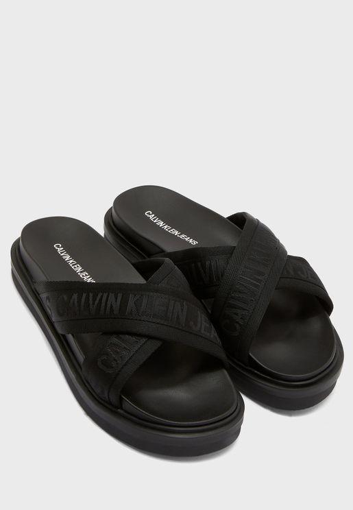 Crisscross Flat Sandals