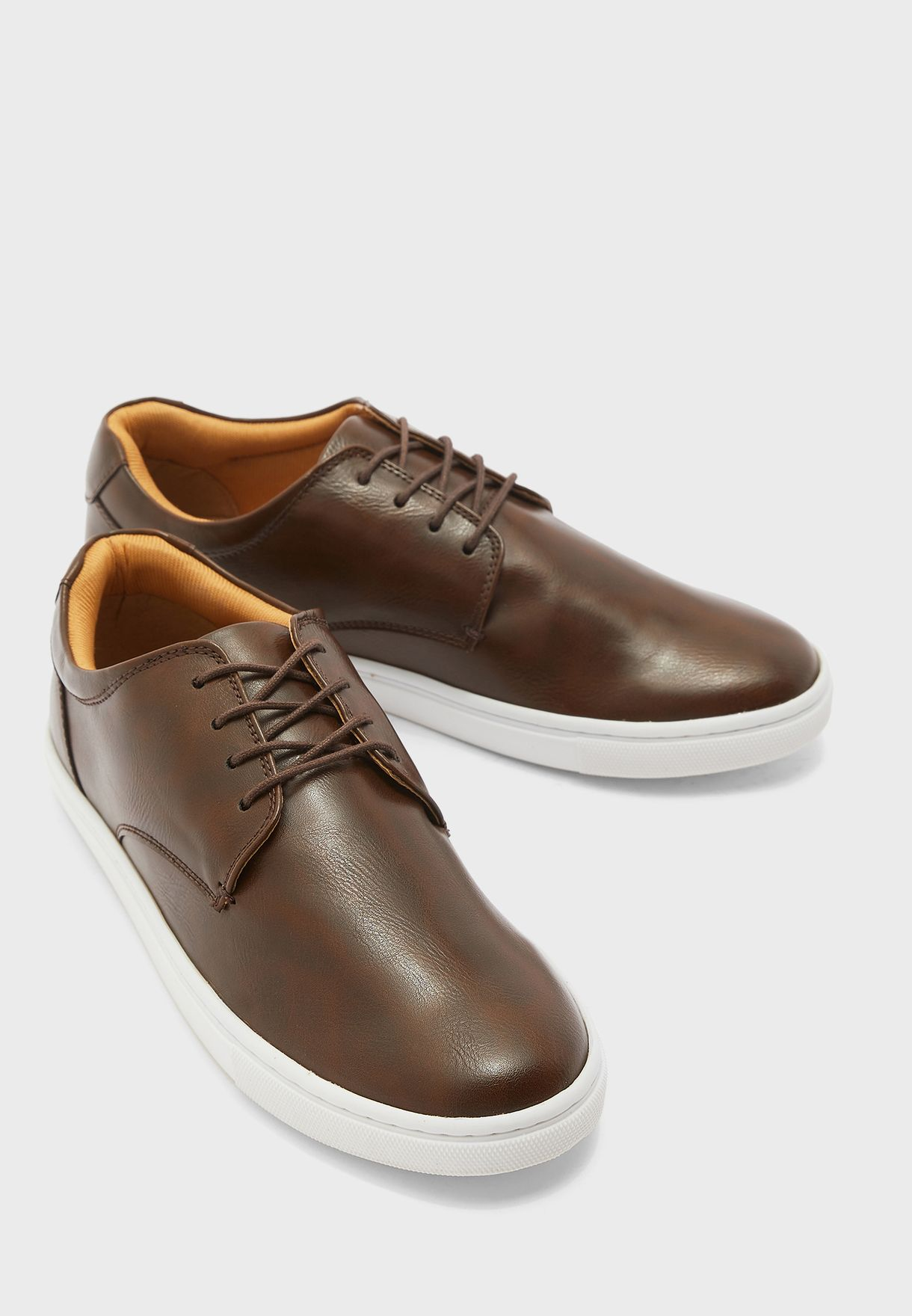 Comfort Faux Leather Casual Lace Up