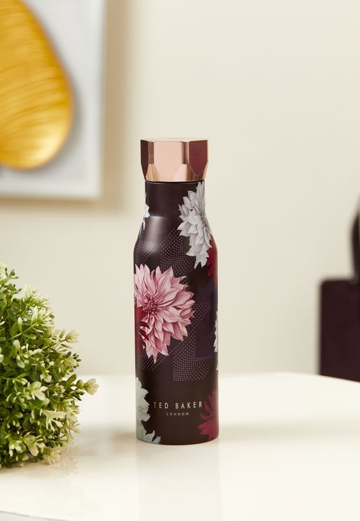 Hexagonal Lid Floral Printed Water Bottle 425ml