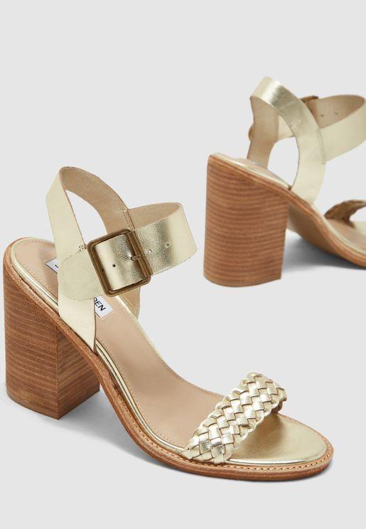 Cadence Ankle Strap Block Heel Sandal