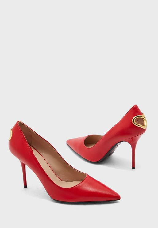 Pointed Toe Pump - Rosso