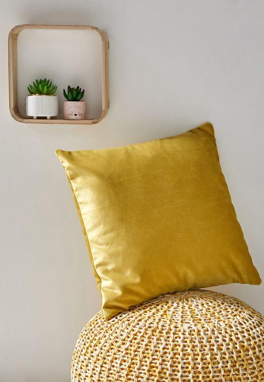 Ochre Soft Cushion With Insert 45x45 cm