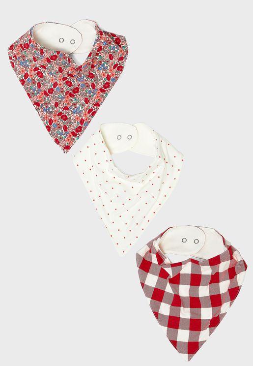 Infant 3 Pack Bandana Bib
