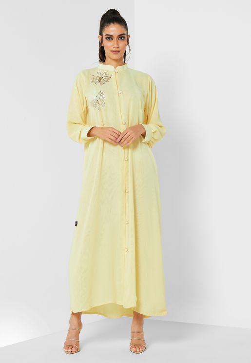 Morning Pearl Embellished Abaya