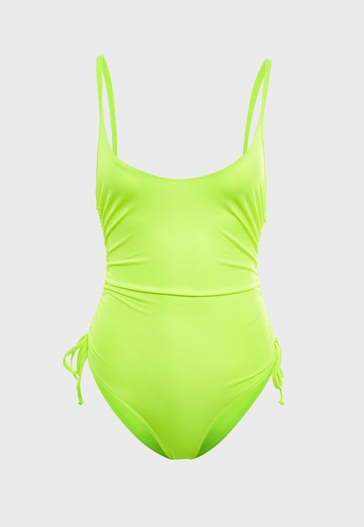 Side Tie Ruched Swimsuit