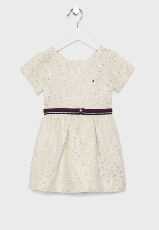 Kids Star Jacquard Dress