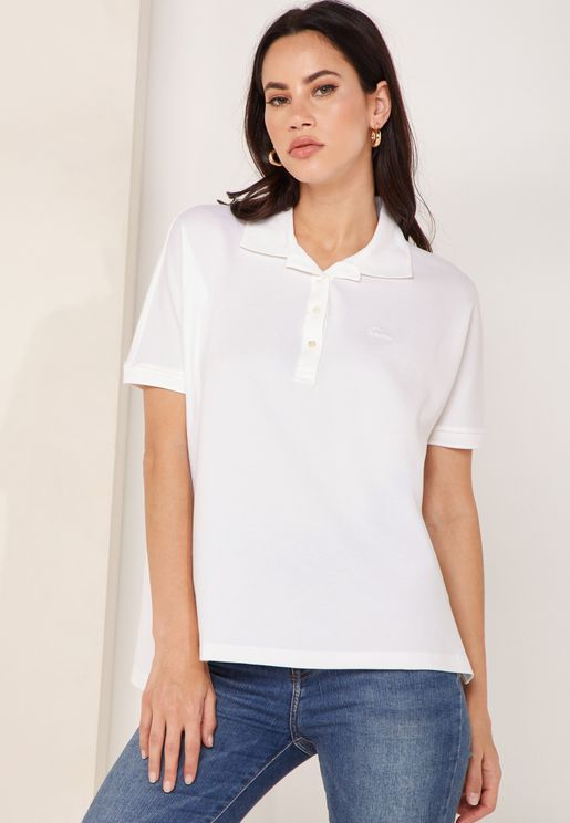Boxy Fit Logo Polo T-Shirt