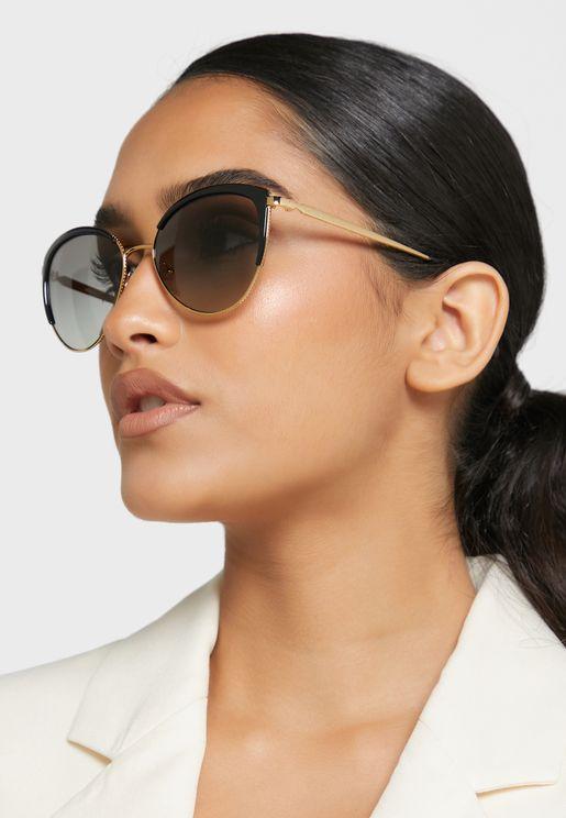 نظارة شمسية دائرية عصرية