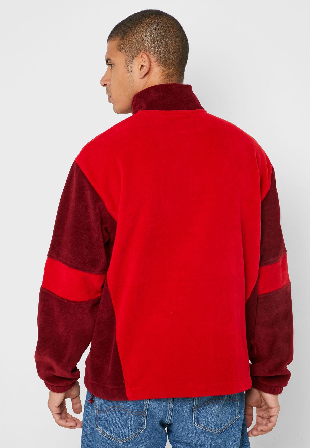 Funnel Neck Half Zip Sweatshirt