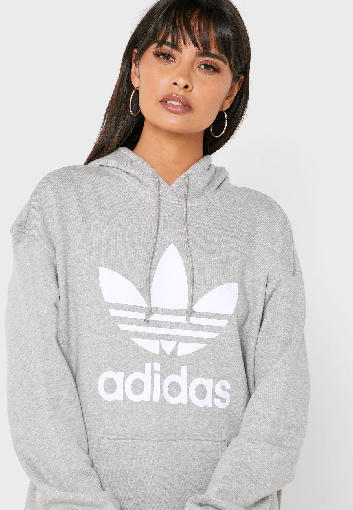 Trefoil Adicolor Casual Women's Sweatshirt Hoodie