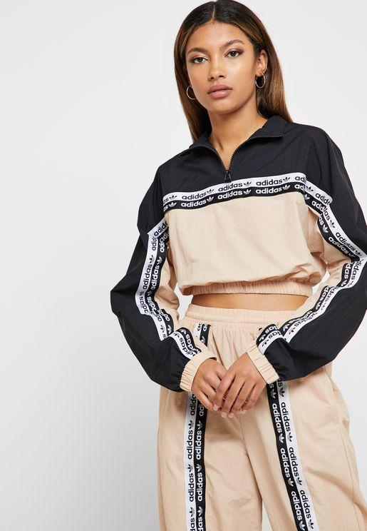 Taped Cropped Sweatshirt