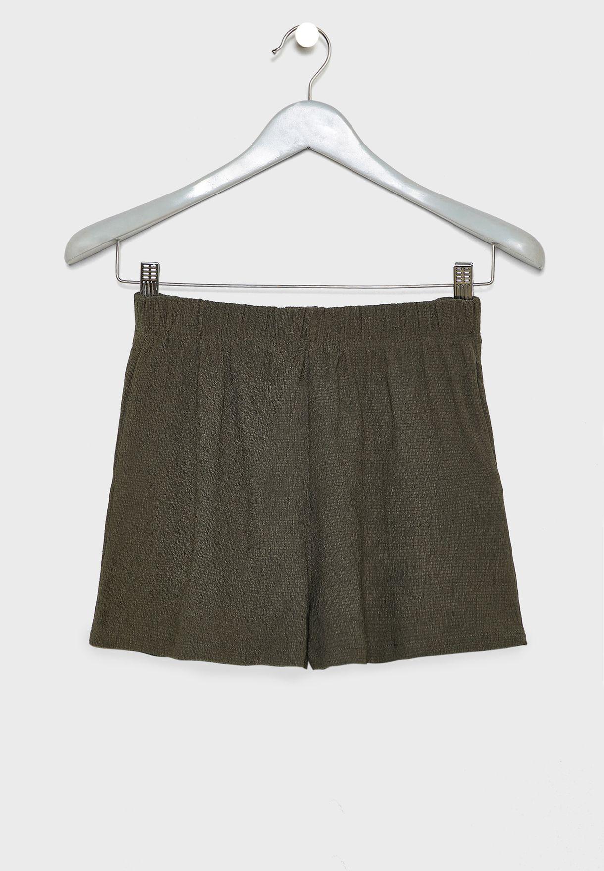 Kids Textured Shorts