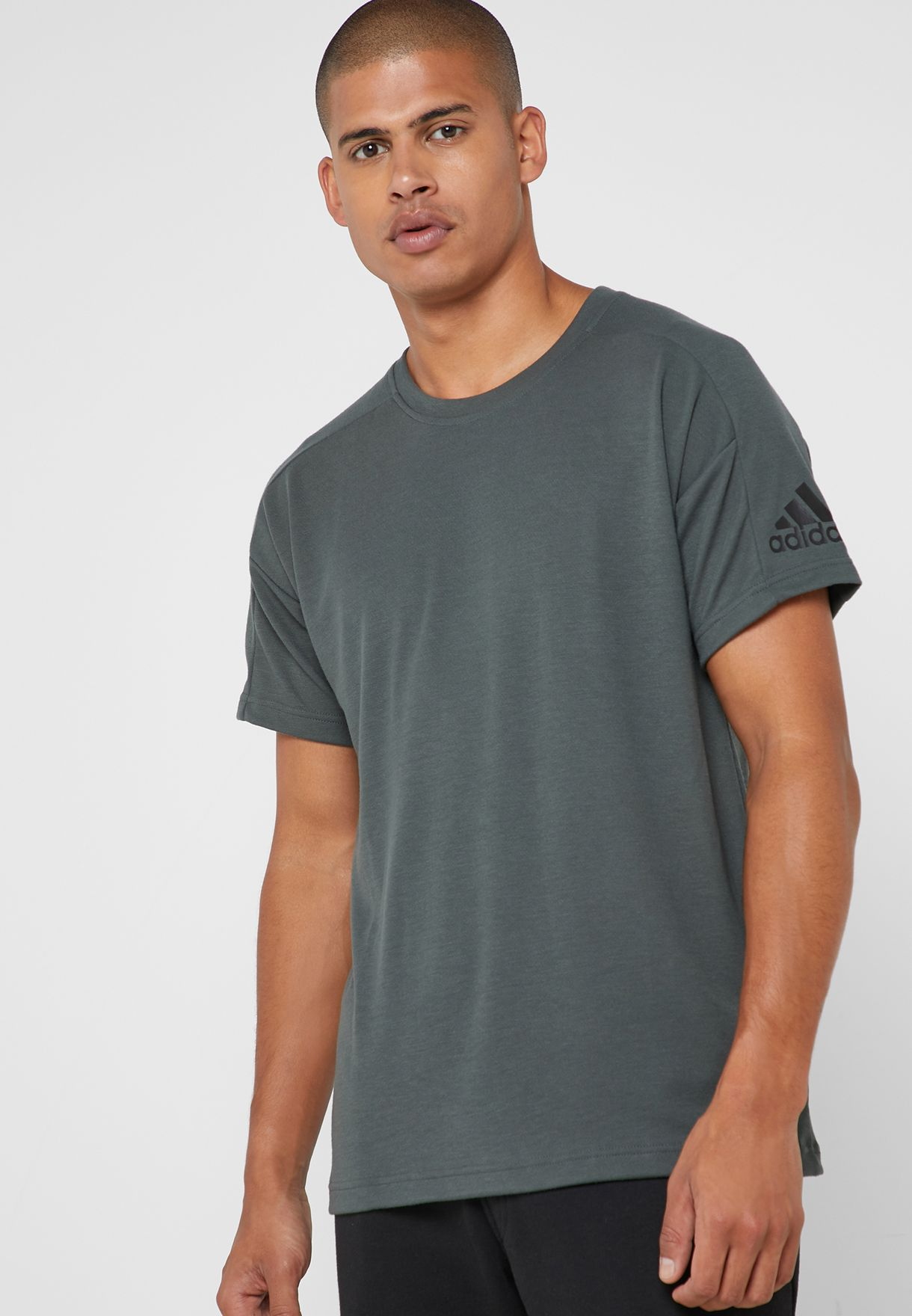 dce1e0df Shop adidas grey ID Stadium T-Shirt DP3121 for Men in UAE - 14448AT30AUP
