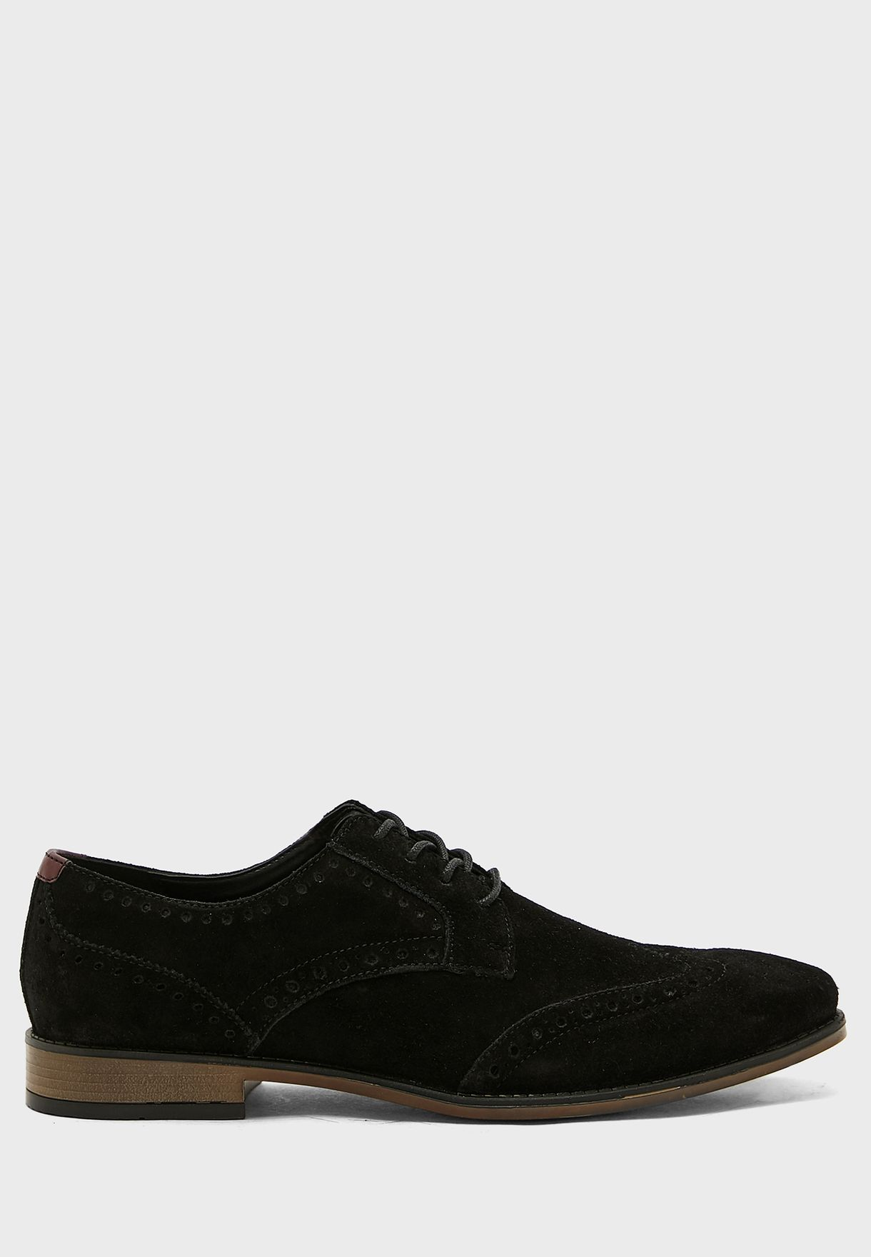 Classic Suede Brogue Lace Up