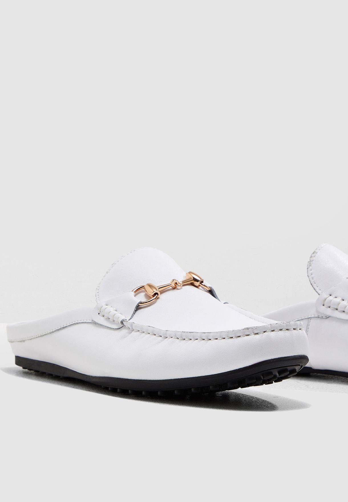 Steve Madden white Blinker Mule Loafers
