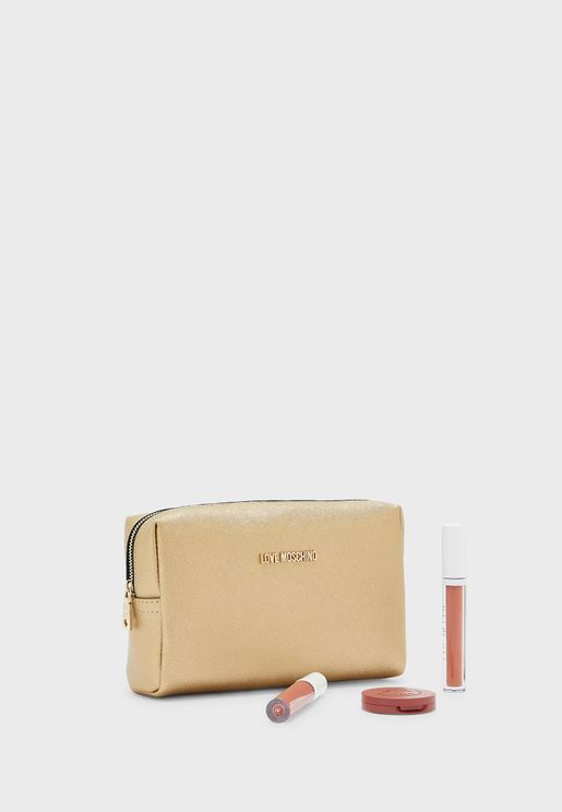 Zip Closure Cosmetic Bag