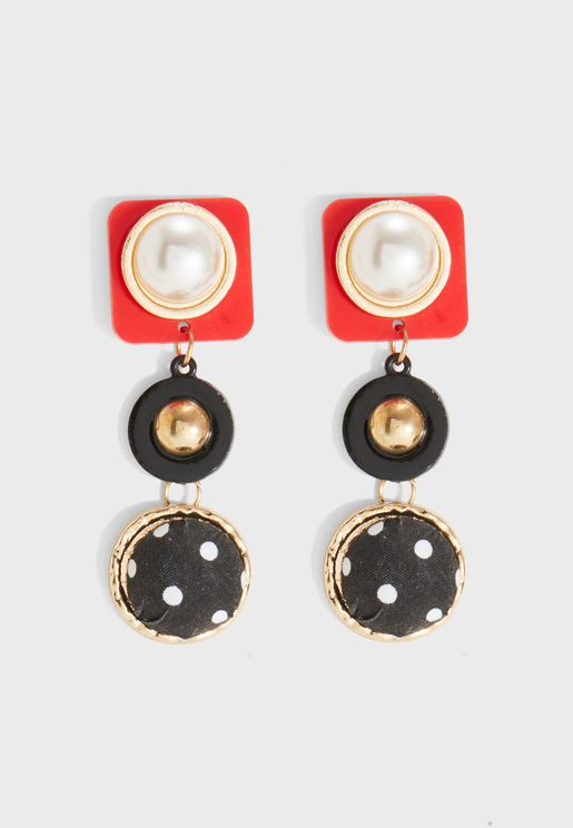 Pearls Detailed Earrings