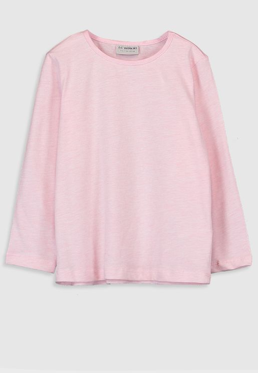 Kids Long Sleeve Basic T-Shirt