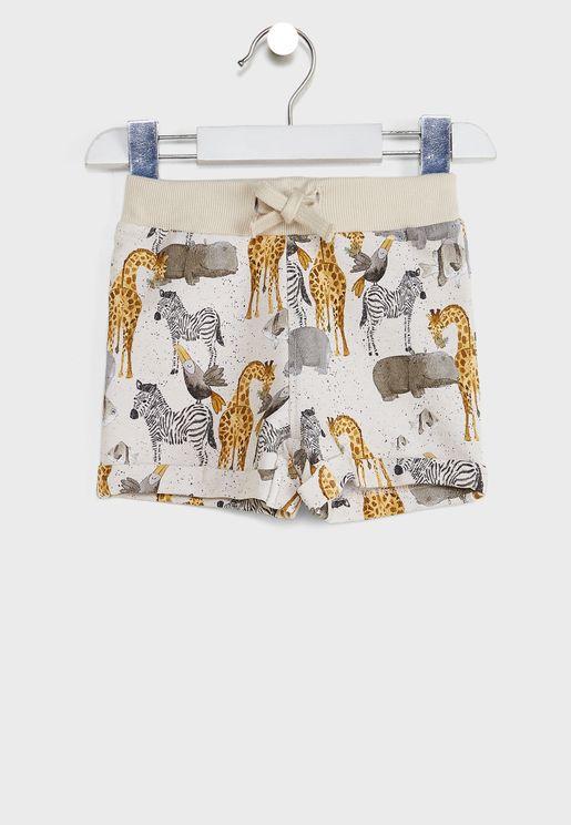 Kids Animal Print Shorts