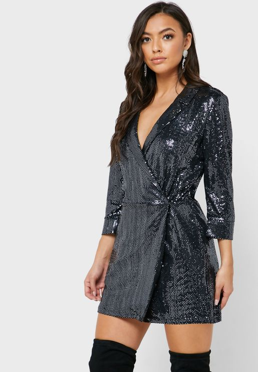 Sequin Blazer Playsuit