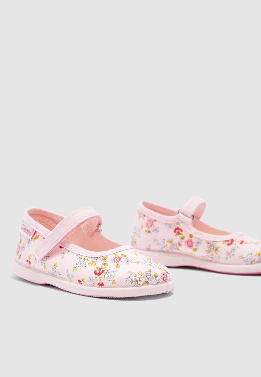 Infant Floral Print Slip On