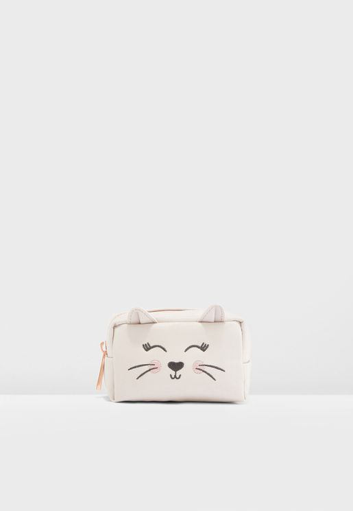 a774e82d2ab5 Mini Pink Cat Pouch. New Look