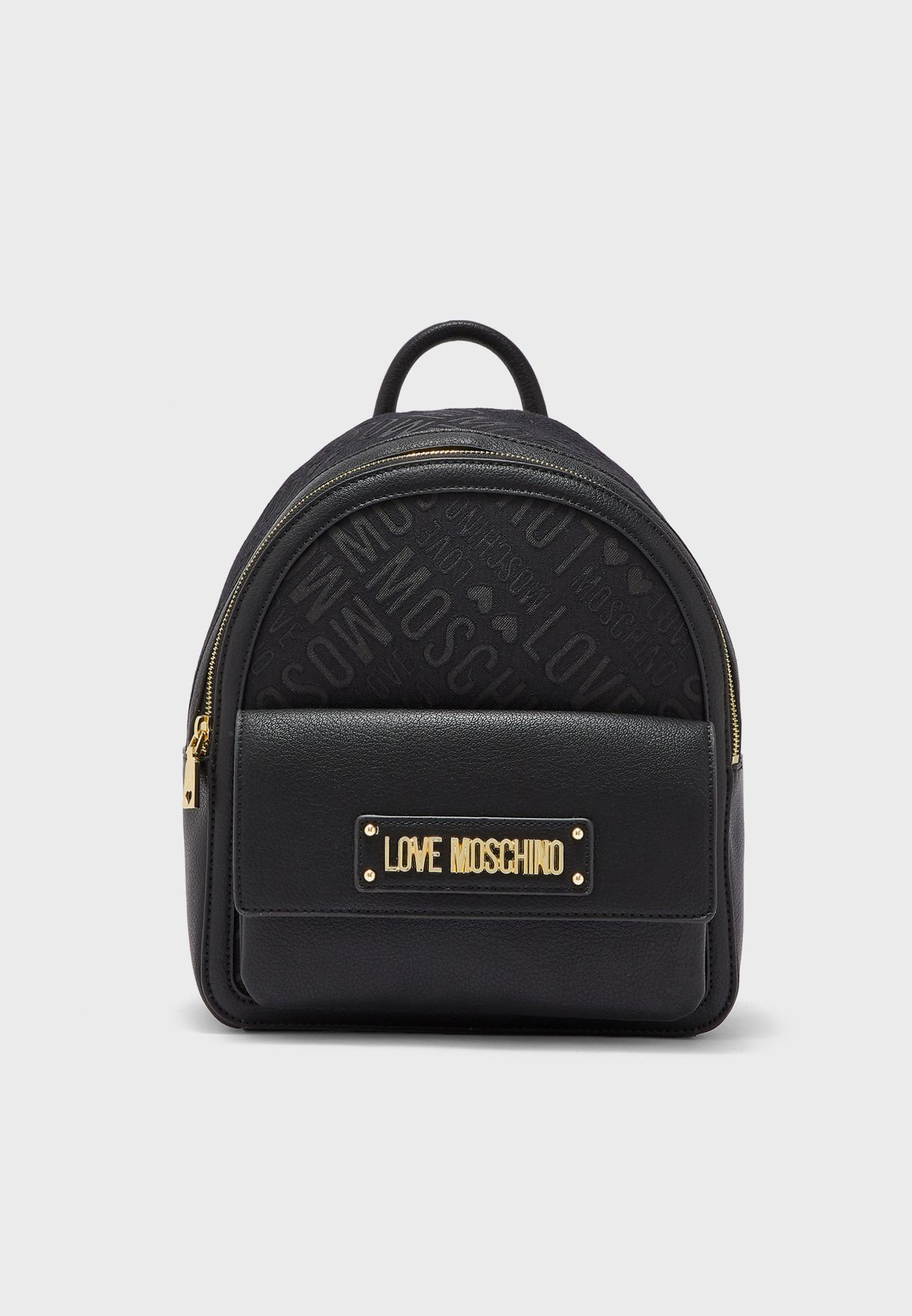 fd1bc3e807 Shop Love Moschino black Love Moschino Backpack JC4017PP18LB100A for ...