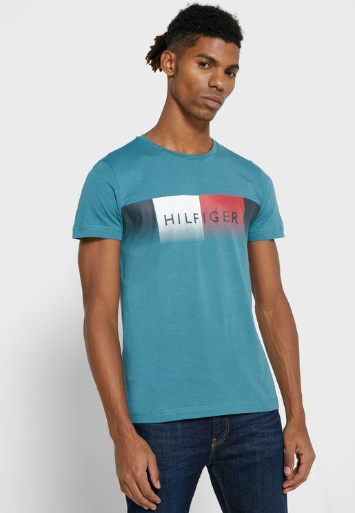 Faded Logo Crew Neck T-Shirt