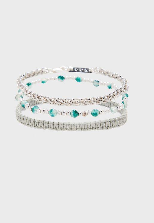 Adjustable Braided Bracelet Set