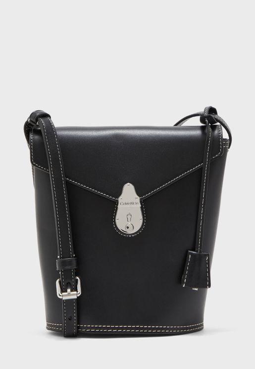 Locked Bucket Hobo Bag